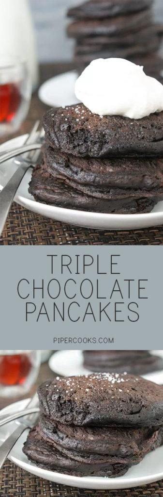 Triple Chocolate Pancakes - PiperCooks