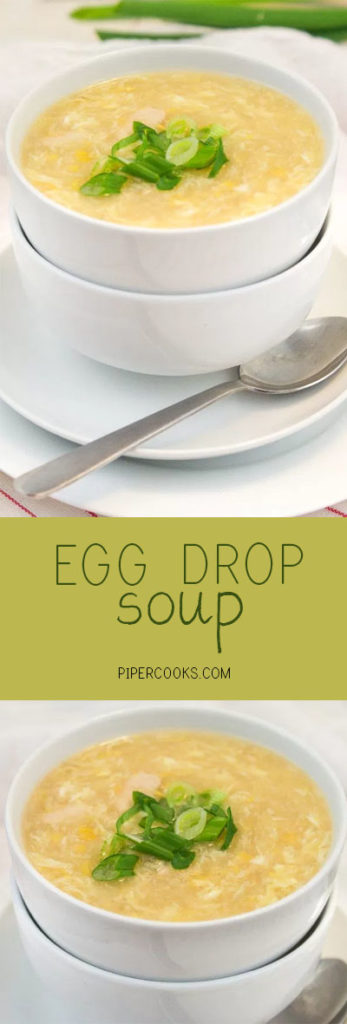 Egg Drop Soup - Quick and Easy weeknight dinner, perfect with a scoop of rice on the bottom - PiperCooks