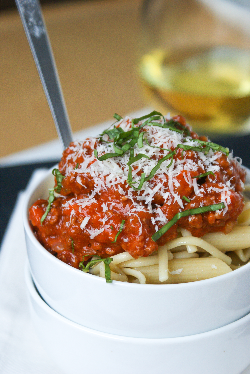 Flavorful, make it and leave it, delicious Bolognese style pasta sauce