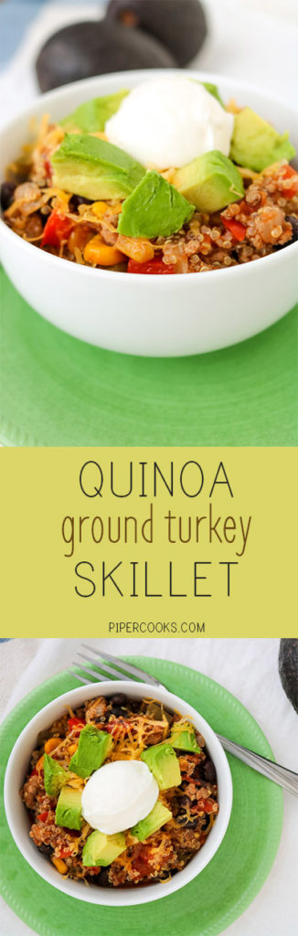 Quinoa Ground Turkey Skillet | PiperCooks
