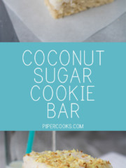 Coconut Sugar Cookie Bar - All the wonderful taste of sugar cookies and coconut with none of the fuss. Great dessert for groups and parties. REcipe from @pipercooks | PiperCooks.com