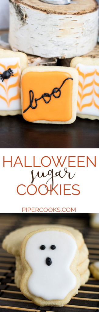 Decorated Halloween Sugar Cookies with Royal Icing | PiperCooks