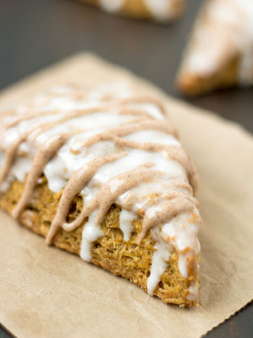 Pumpkin Scones with Maple Cinnamon Icing