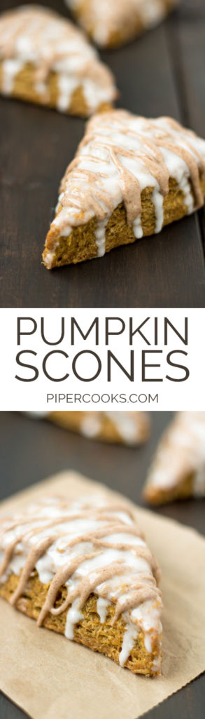Pumpkin Scones with Cinnamon and Maple Icing | PiperCooks