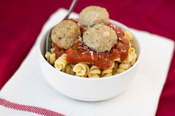 Tomato Sauce Turkey Meatball Pipercooks.com