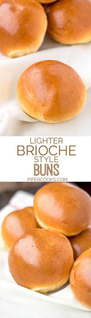 Quick Light Brioche Buns | PiperCooks