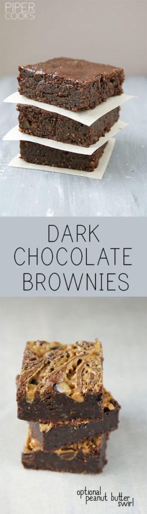 Dark Chocolate Brownies - PiperCooks