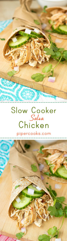 Slow Cooker Salsa Chicken - PiperCooks