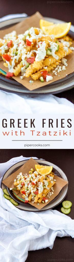 Greek Style Fries with Tzatziki Sauce - Pipercooks.com