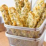 Baked Parmesan & Panko Portobello Fries | Pipercooks.com