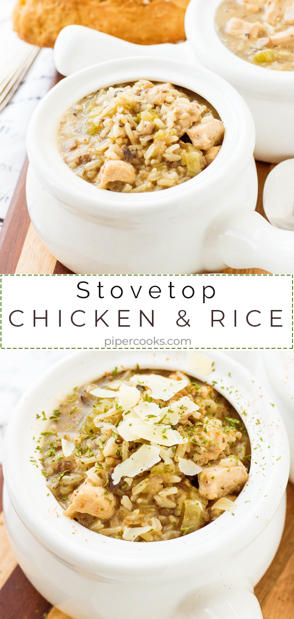 Stove Top Chicken and Rice - PiperCooks
