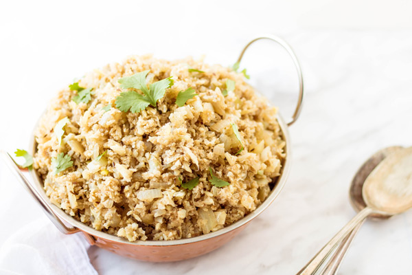 Indian Spiced Cauliflower Rice - PiperCooks