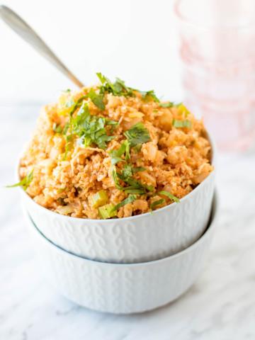 Spanish Style Cauliflower Rice Recipe by PiperCooks