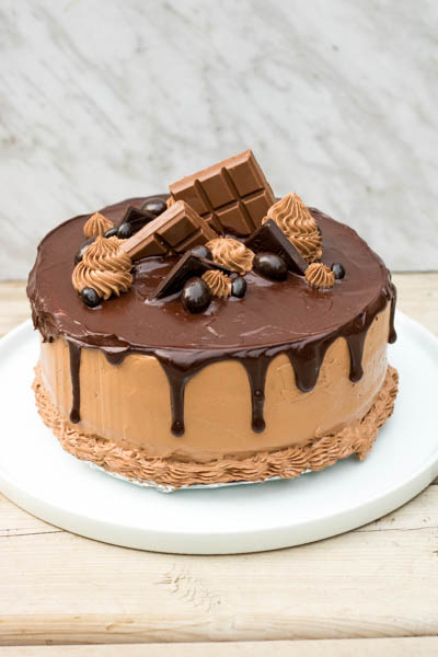 Chocolate Triple Layer Cake with Chocolate Buttercream