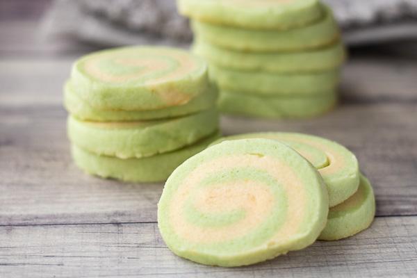 Mint Pinwheel Cookies – PiperCooks