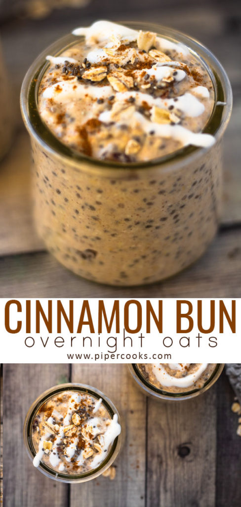 Cinnamon Bun Overnight Oats - PiperCooks