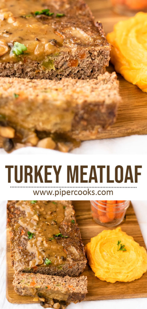 Turkey Meatloaf with Mushroom and Onion Gravy