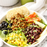 Taco Salad with a Vegan/Vegetarian Topping Option - PiperCooks