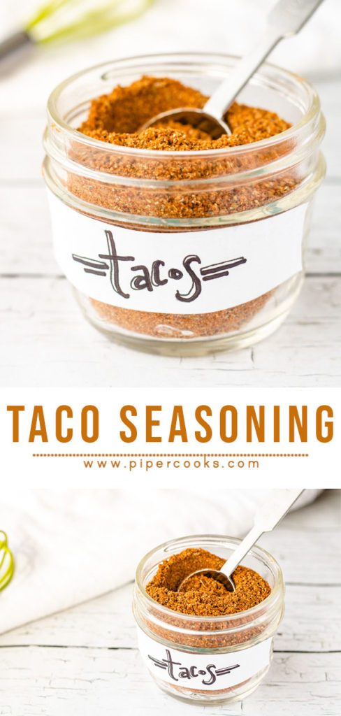 Homemade Taco Seasoning | Pipercooks