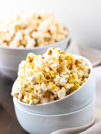 Stovetop Popcorn with Nutritional Yeast - PiperCooks