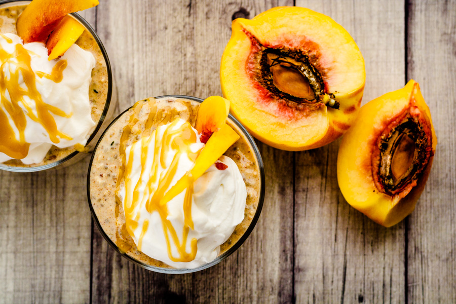 Maple Peach Overnight Oats | PiperCooks
