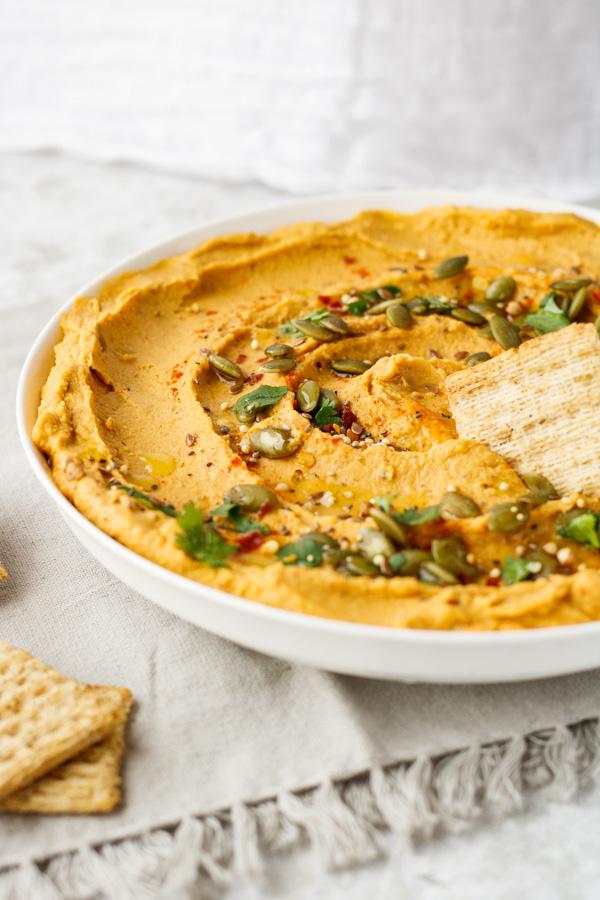 Roasted Sweet Potato and Garlic Hummus | Pipercooks