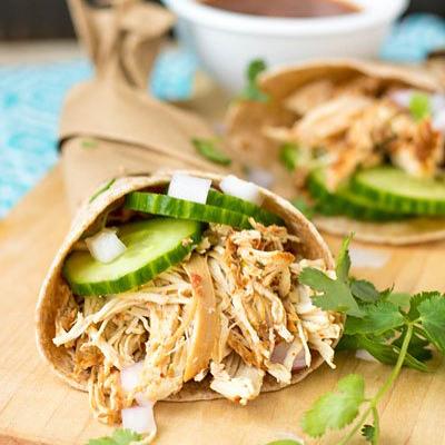 Slow Cooker Salsa Chicken | Pipercooks