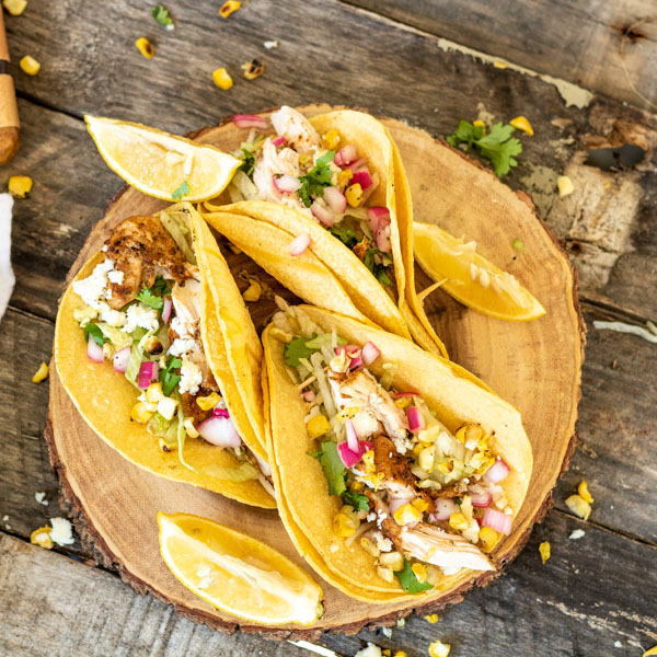 Easy Grilled Chicken Tacos | PiperCooks