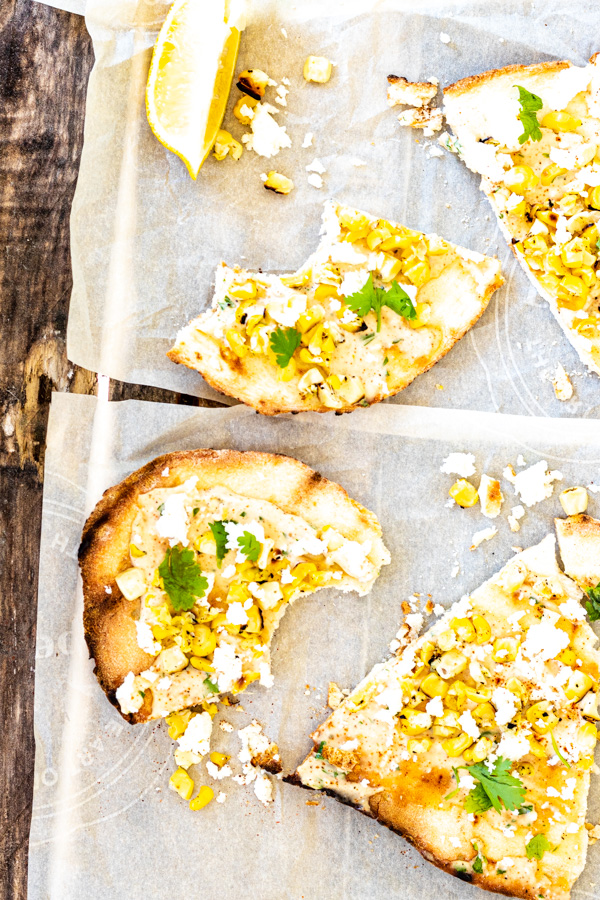 Mexican Street Corn Flatbread Pizza | PiperCooks