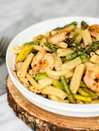 Shrimp and Asparagus Pasta - One Pot Recipe | PiperCooks