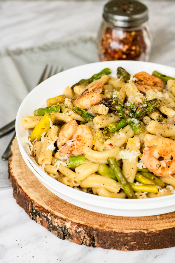 Shrimp and Asparagus Pasta - One Pot Recipe | PiperCooks