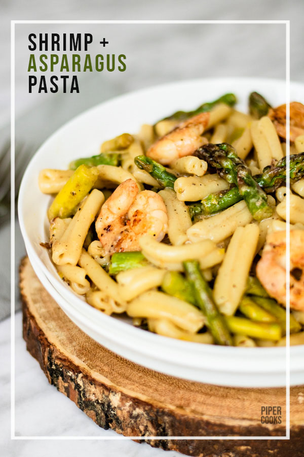 Shrimp and Asparagus Pasta with Lemon - One Pot Recipe