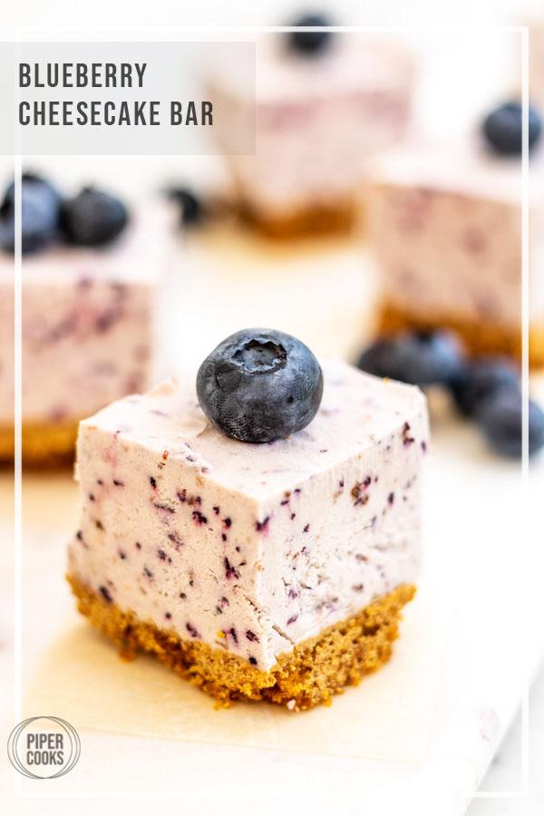 Blueberry Cheesecake Bar | PiperCooks