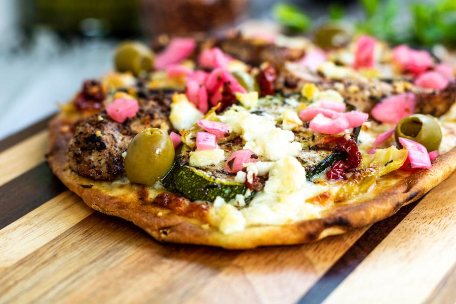 Mediterranean Naan Bread Pizza | PiperCooks