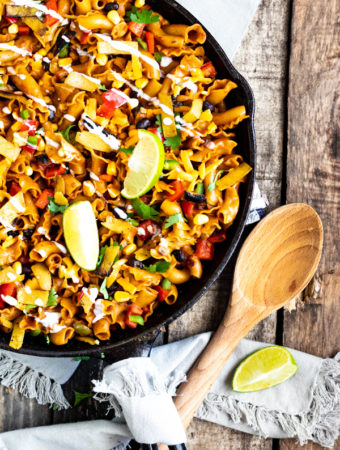 Vegetarian Enchilada Pasta Skillet | PiperCooks