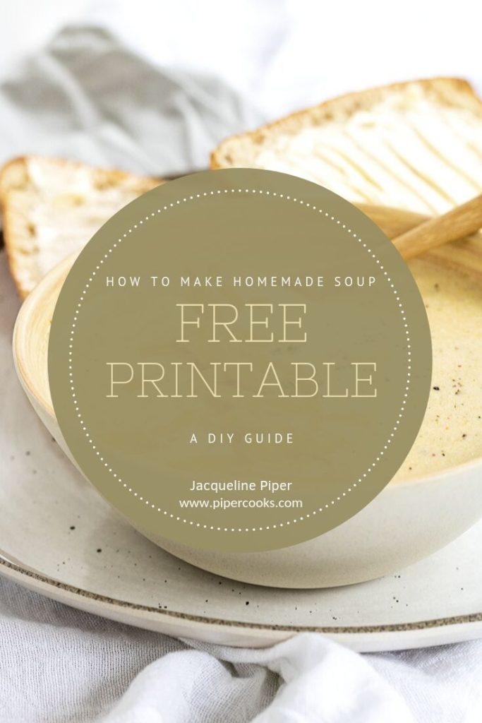 printable soup guide cover page