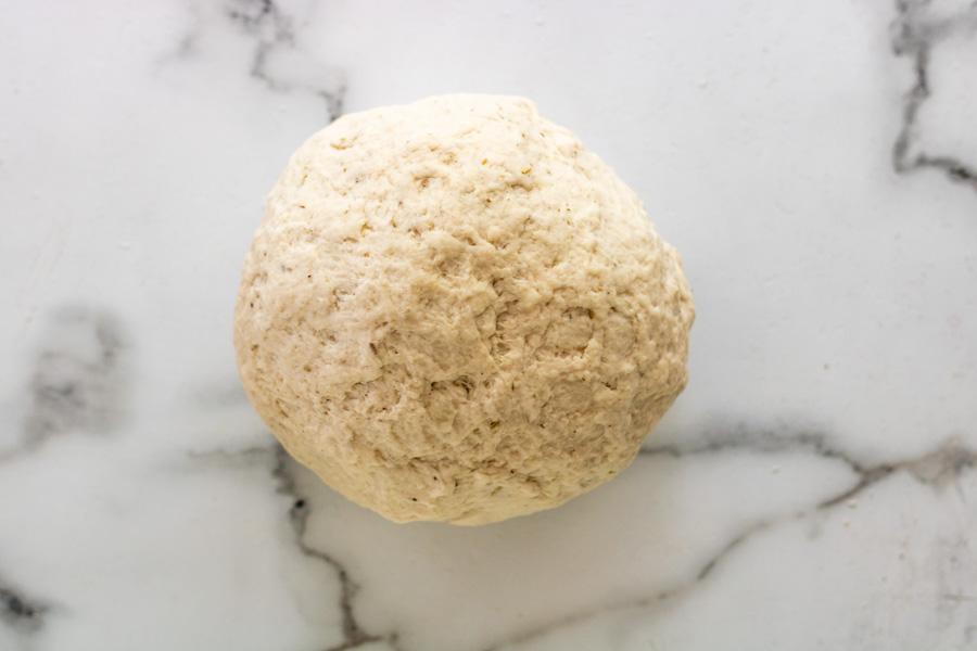bread bowl dough before rising