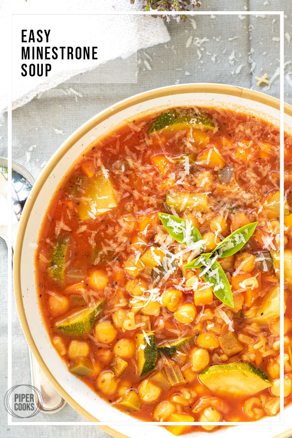 Easy Minestrone Soup | PiperCooks