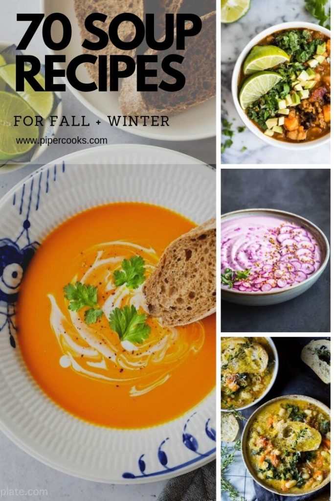 collage for homemade soup collection