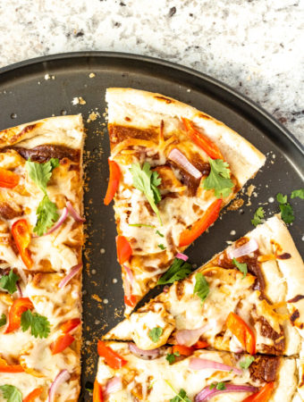 Thai Chicken Pizza with Peanut Sauce