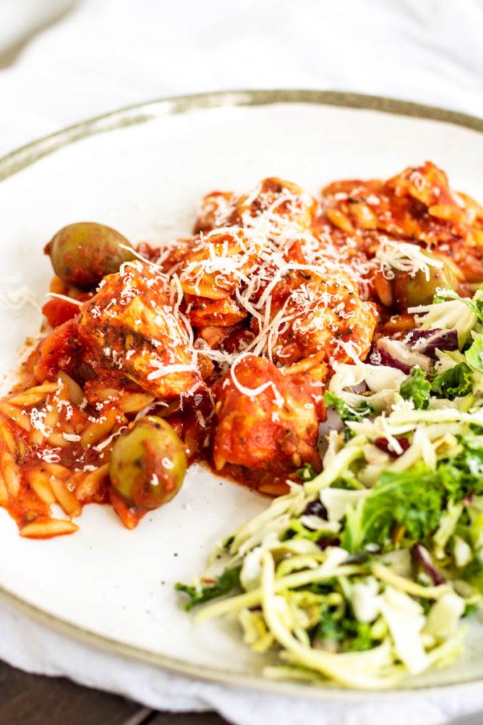 Slow Cooker Mediterranean Chicken with Orzo