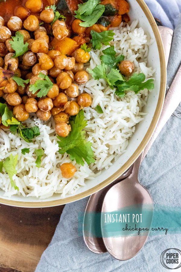 Instant Pot Vegetarian Chickpea Curry