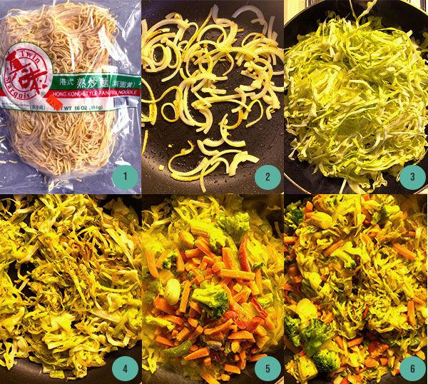 Easy Vegetable Chow Mein - Cooking Process Photos
