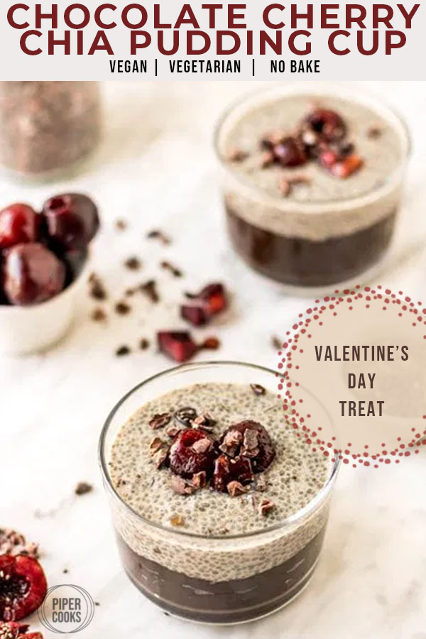 Chocolate Cherry Chia Pudding Cups