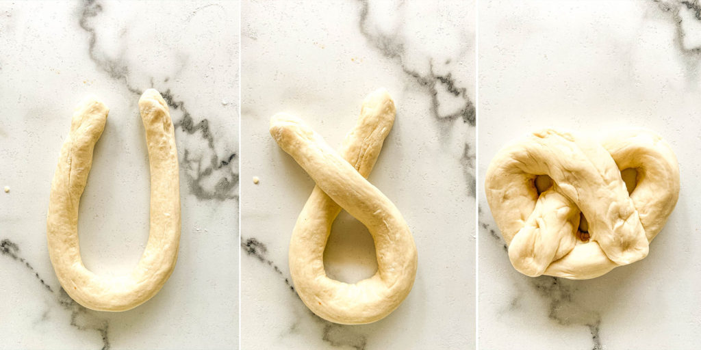 Everything Bagel Soft Pretzels Process Shots