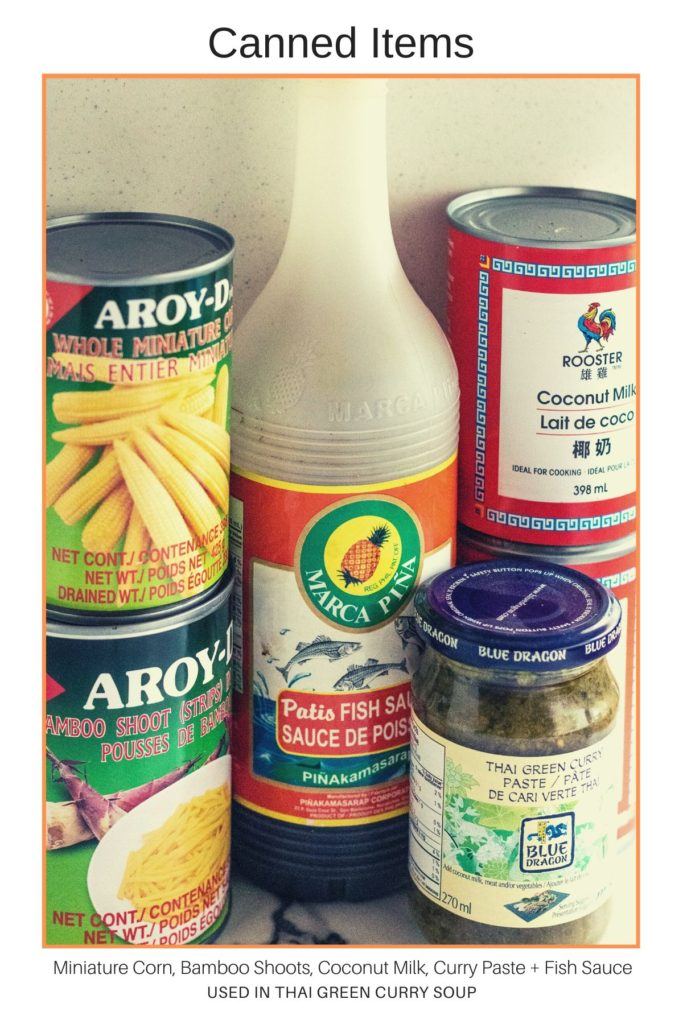Canned Items for Pantry meals
