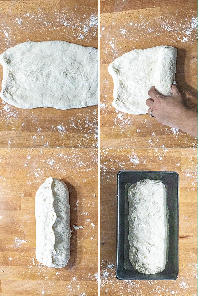 Soft + Fluffy White Bread Process Photos