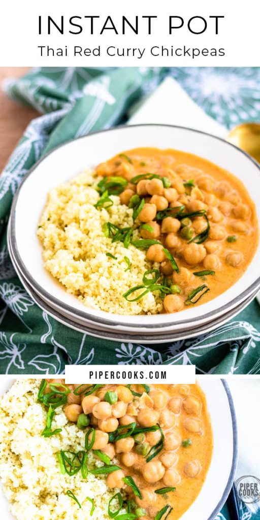 Instant Pot Thai Red Curry with Chickpeas