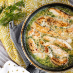 Creamy Dill Chicken in a pan