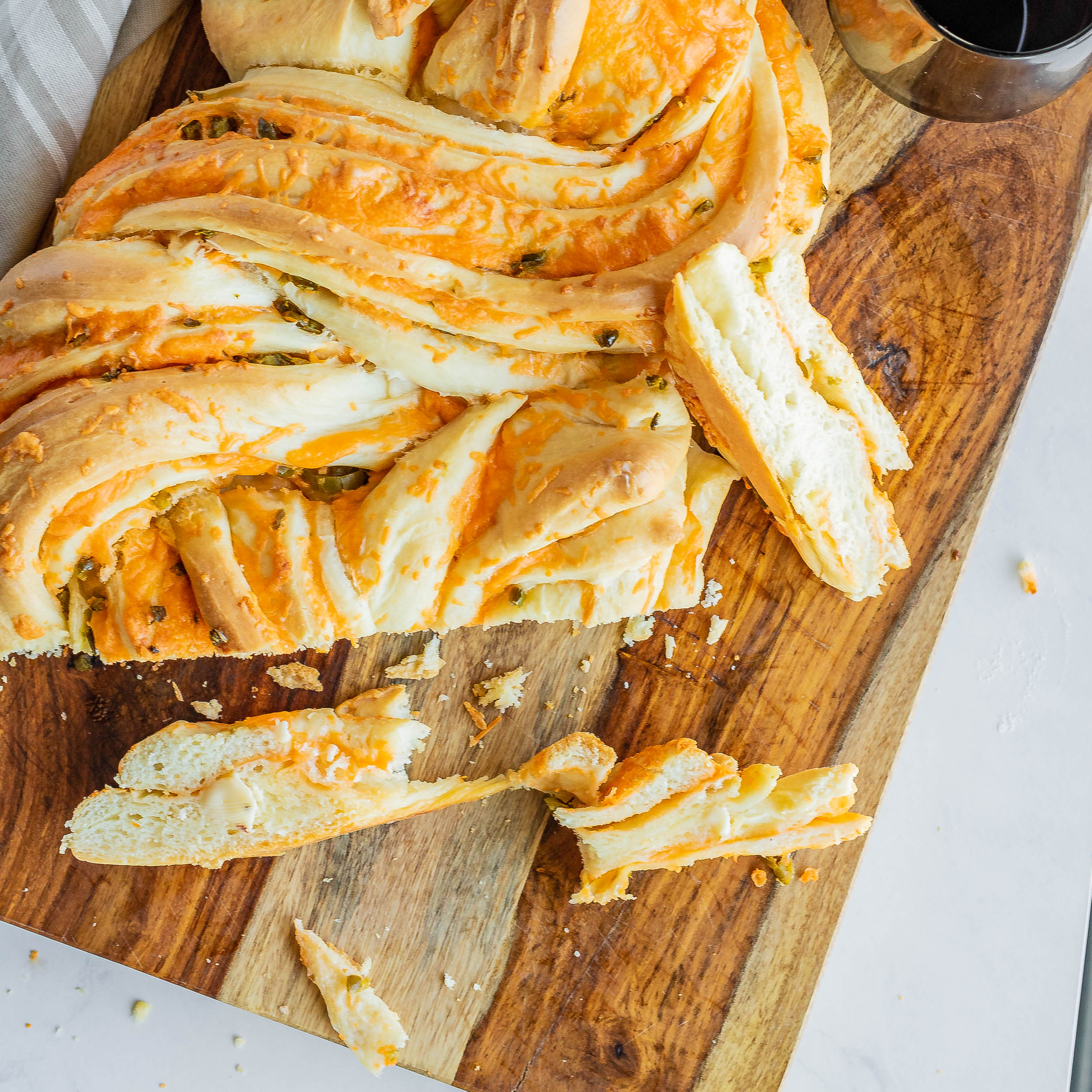 Jalapeno Cheddar Cheese Swirl Bread Loaf